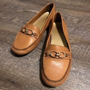 Coach Fortunata leather casual driving loafers